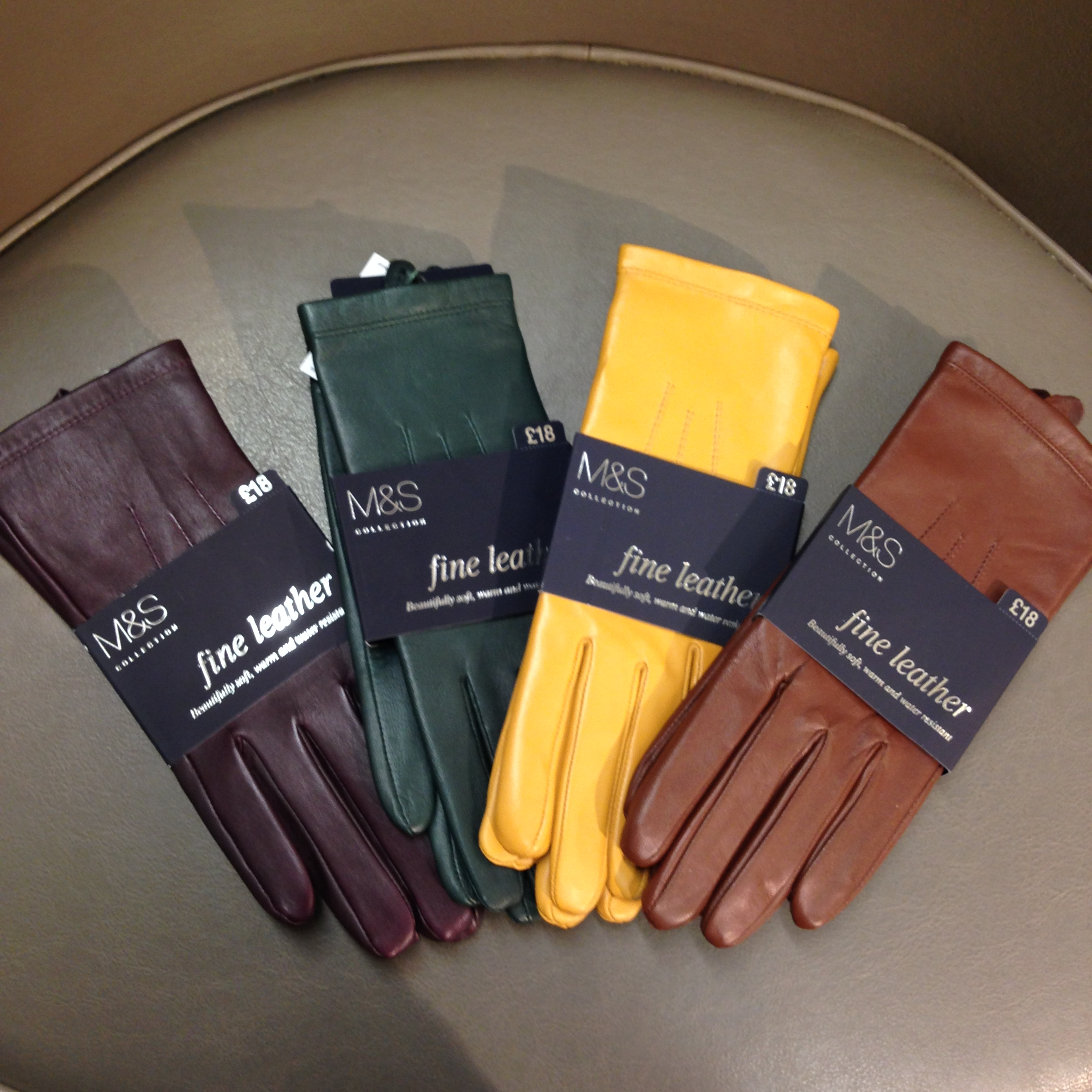 Ladies leather gloves asda - Gorgeous Leather Gloves In Burgundy Forest Green Mustard And Tan These Really Represent Autumn For Me And Given I Have A Lot Of These Shades In My